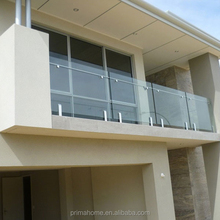 Pool Glazed Balustrade with Stainless steel spigot mounts