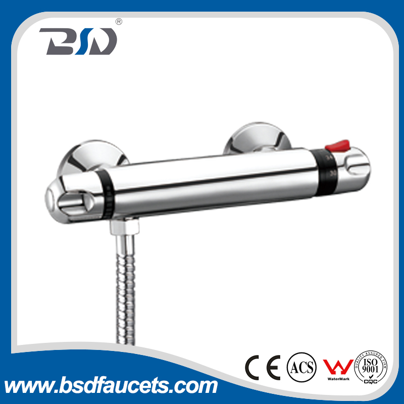 New Simple Style Wall Mounted Bathroom Shower Faucet Thermostatic Tub Mixer Tap made in China