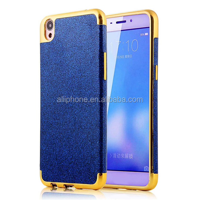 Sparkle Soft Rubber Elegant Cover with Electroplated Bumper, Ultra Thin Anti-scratches Shockproof Skin for OPPO R9 plus
