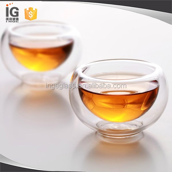 Small glass tea cup double wall glass tea cup cheap