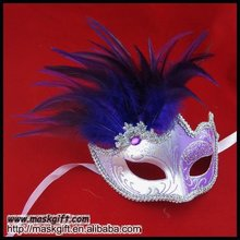 2012 new purple/silver glitter Venetian feather carnival masquerade party masks