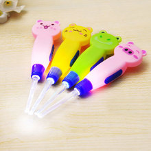 Baby care ear spoon Light child ears cleaning with light wholesale Earwax spoon digging luminous dig Ear Syringe japanese Z0307