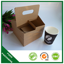2/4 handle cup holder , portable paper cup tray