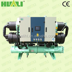 92KW-462KW Cooling Capacity Screw Type Compressor Industrial Water cooled Chillers With Overload Protection