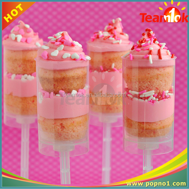 New-brand Colorful Plastic Cake Push Pop For Baking