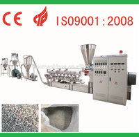 WPC(PE+wood) parallel twin-screw pelletizing line (crushing process) / plastic granules cutting machine