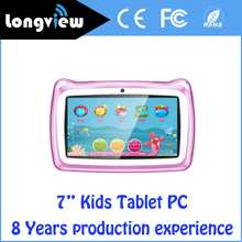 Hot!!! Made In China Smart Android Quad Core Children Tablet Kids Tablet With Two Camera