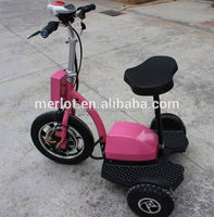 New design three wheeler standing up battery powered electric golf cart with big front tire