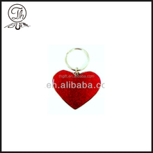 Big red heart key chain w/Nickel finish,love keychain,shiny key chain/sweet keyrings