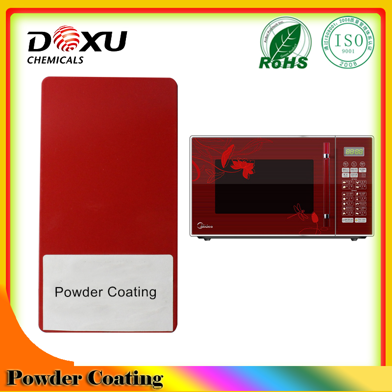 Micro oven red powder paint