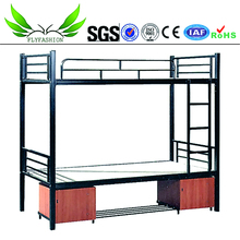 steel school dormitory bedroom furniture student metal bunk bed for sale BD-26