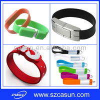 promotional cheap bracelet usb flash drive with silicone leather PVC material