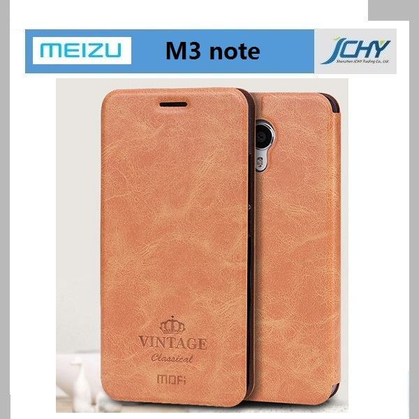 Meizu M3 Note Case Original Mofi PU Leather Case for Meizu M3 Note Cover Luxury Phone Case Cover with Stand Card Holder Function
