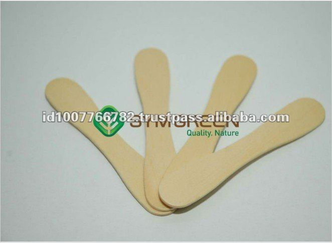 Eco-Friendly 95mm Pine Wooden Ice Cream Spoon