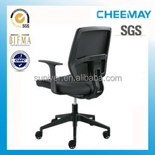 top grade patent mid back plastic chair cable control swivel office chair with arm