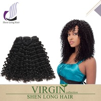 Wholesale unprocessed 7A 8A grade virgin brazilian curly hair, classic jerry curl hairstyles for black women