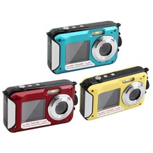 24mp/20mp dual waterproof digital camera with rechargeable lithium battery