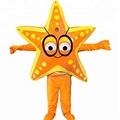HOLA orange starfish mascot costume/costume for sale
