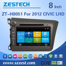 For Honda Civic LHD original parts used car spare parts car dvd with GPS, Radio, SWC, DTV, ATV, 3G, Wifi, MP3/MP4, BT, Audio