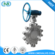 SS 316 14inch 16 inch pn150 Flange Lug Type Butterfly Valve with Worm Gear