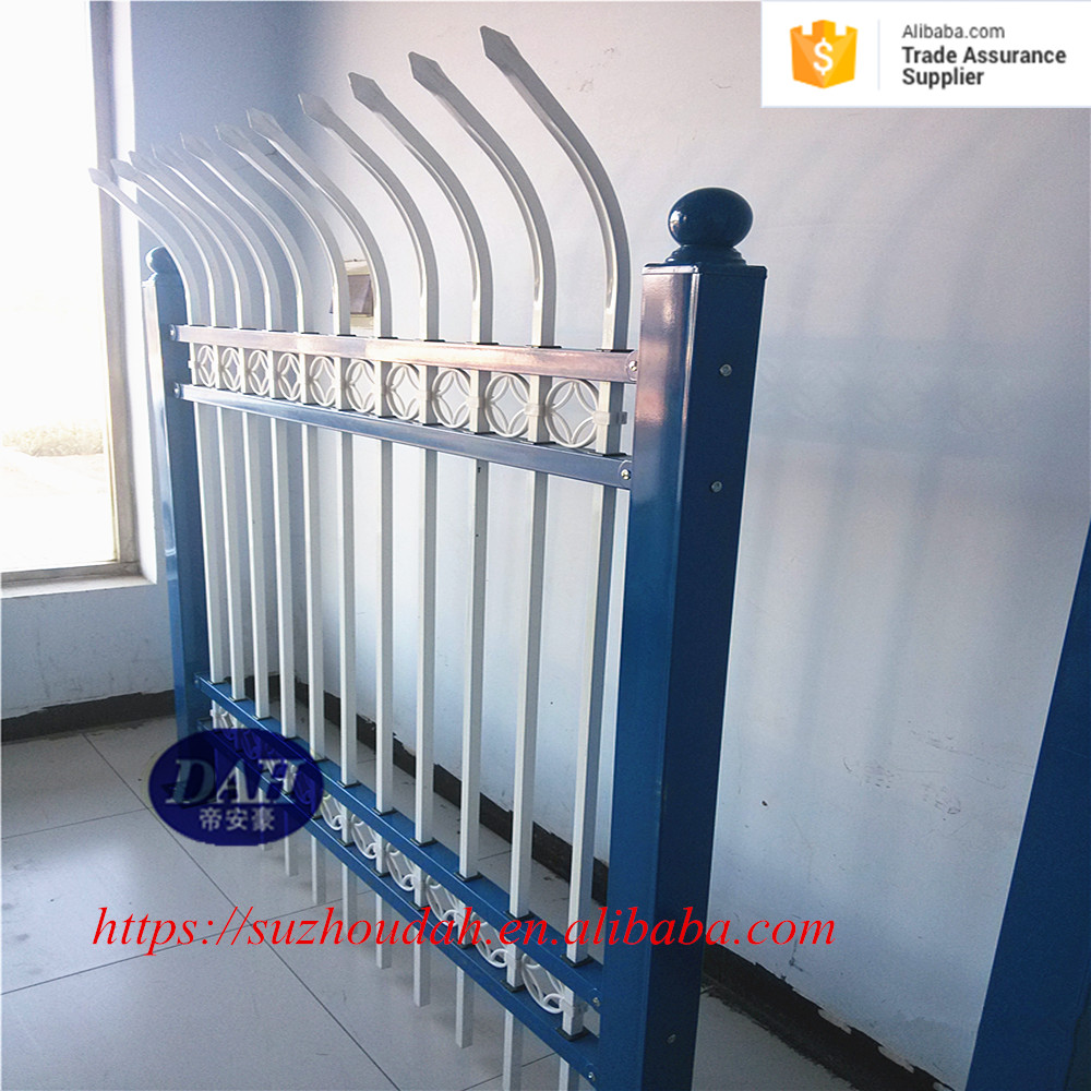 decorative metal fence grill design galvanized steel fence for garden