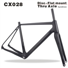 Chinese Carbon Frame,160mm Disc CX Bike Frame,Flar Mount cyclocross T700 Full Carbon Bicycle Frame