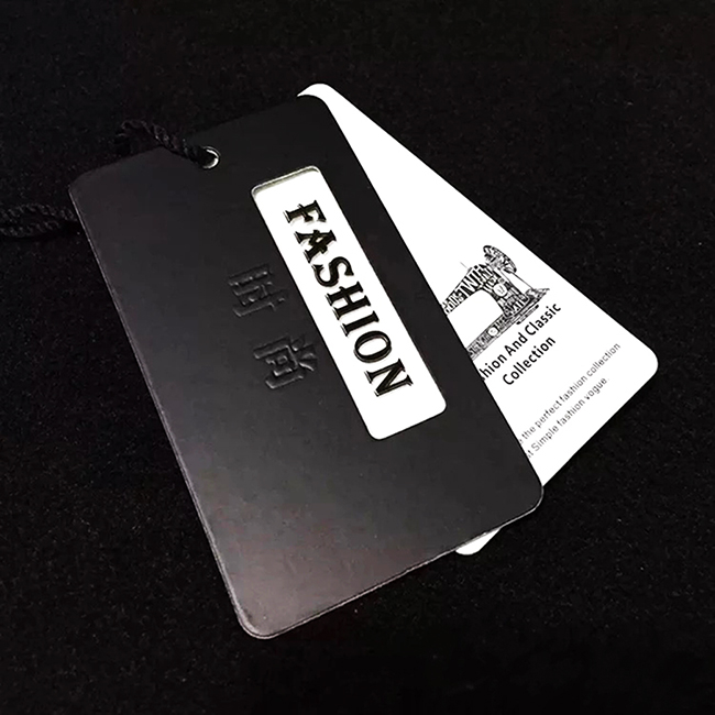 paper garment Black cardboard hang tags