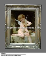 Framed Painting Cute Child Angel Design Oil Picture Pop Art Painting