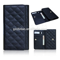 High Quality Universal Sheep Grip Flip PU leather Case With Chain Wallet Credit Card For Phone 3.5-5.5 inch
