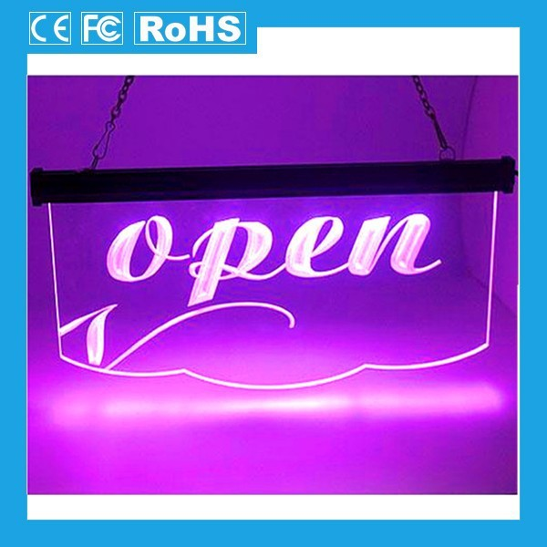 Electronic new advertisement products battery powered led open signs