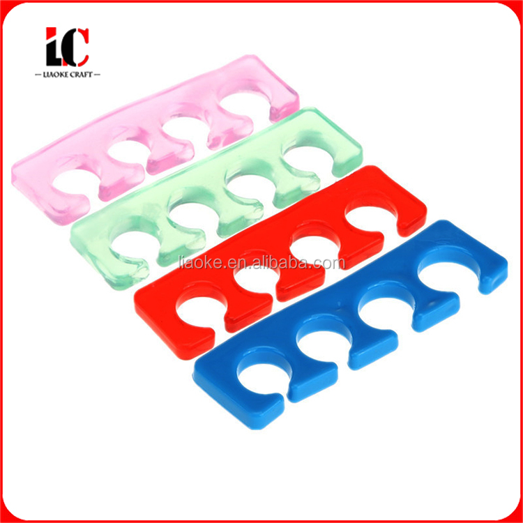 Silicone gel toe separator for finger and toe spacers