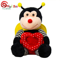 HuiBao Toys custom cute sand animal bee plush stuffed toys