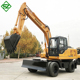 small chinese cheap mini wheel excavator for sale