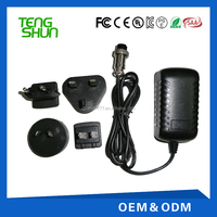 interchangeable plug power adaptor for slit lamp ac 230v dc 12v 1a 2a