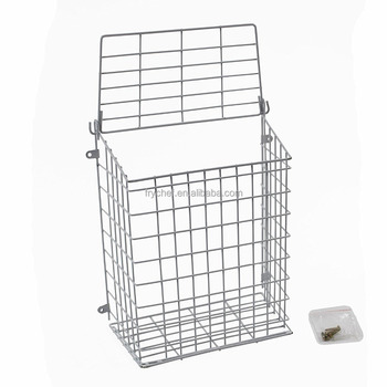 Metal Mesh Letterbox Door Basket Letter Cage /White Color