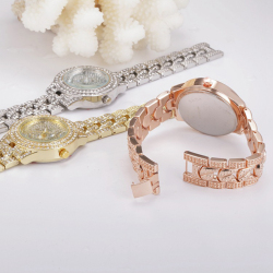 Good quality diamond colorful ladies watches china supplier