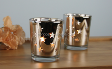 engraving glass candle holder cup coffee bar tealight candle stick lantern