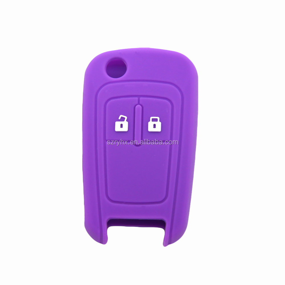 Custom silicone car remote key case,wholesale silicone car key cover, remote control key cover for chevrolet