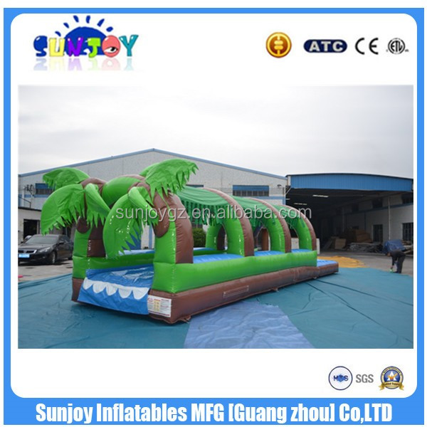 0.55mm PVC Tarpaulin Green Jungle Inflatable Slip N Slide with High Quality