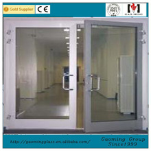 China exterior metal insulated doors with tempered glass
