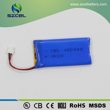 3.7v 290mah Flat Lithium Polymer Battery Soft li-po battery pack
