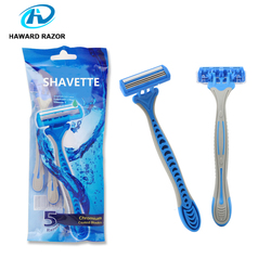 disposable shaving stick 3 blade men shaving bulk wholesale straight razor