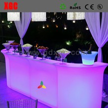 2017 new products UL white light LED Bar Counter belysning borde og stole nightclub lounge furniture
