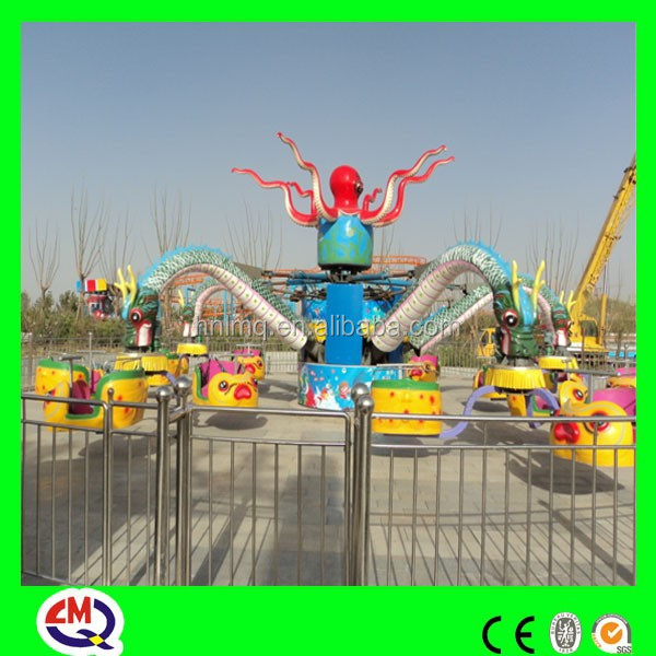 Attraction!!!Playground equipment companies rotary electric octopus car import export africa