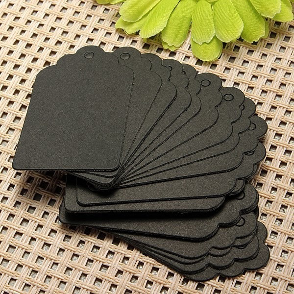 100Pcs Label Paper Tag Gift Hang Price Blank Kraft Wedding Party Dessert Drawing Marking Decor Card Craft