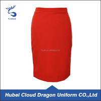 Fashion red skirt for office lady 2016 ladies designer skirt suits