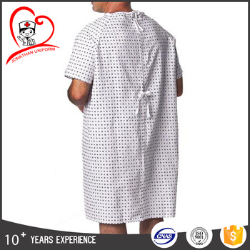 High quality cotton hospital Patient Gown surgical Gown