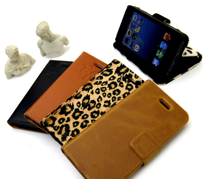 For iphone5s PU leather case and For iphone5s Magic Soft Plus wallet case