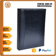 BOWEN - 0132 a6 leather ring binder folder / durable office leather ring binder