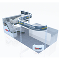 Detian Display offer movable two level booth for trade show, aluminum two level booth exhibition